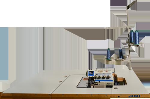 Coverlock-Nähmaschine: mit ihrem Differenzialtransport für sehr dünne und glatte Stoffe geeignet. Zum Nähen in der Stoffmitte und Absteppen von Bruchkanten eingesetzt, wo zwei Teile zusammengenäht werden – bewirkt eine besonders schöne Optik Ihrer Kleidung durch das attraktive Stichbild.