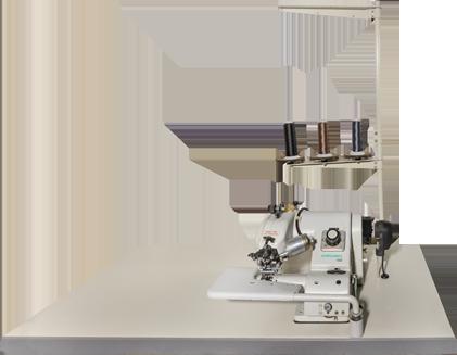 Blindstichmaschine: Industrienähmaschine für leichte bis mittelschwere Materialien, die einen Blindsaum nähen kann, wodurch sie einen attraktiven nahtfreien Look ermöglicht